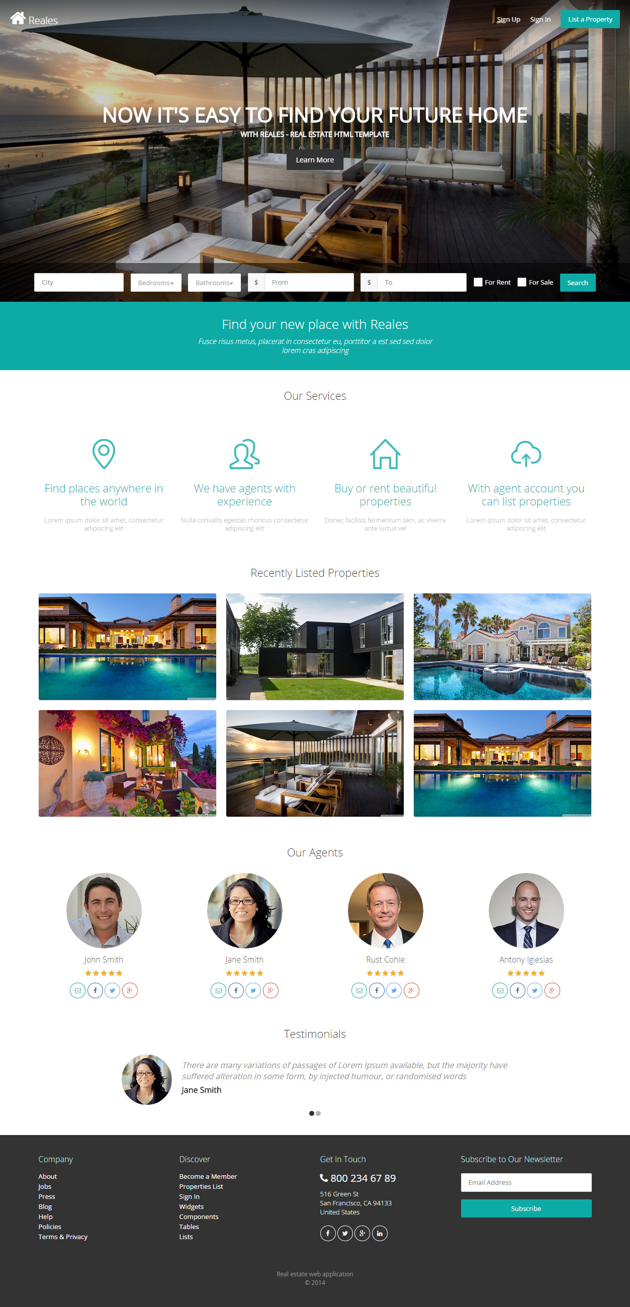 20 best real estate website templates 2018 responsive miracle