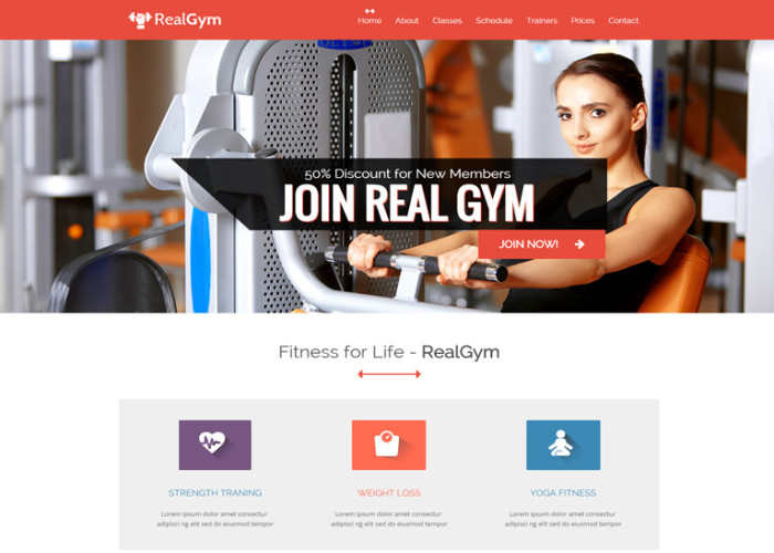 RealGym – Premium Responsive Health And Fitness HTML5 Template