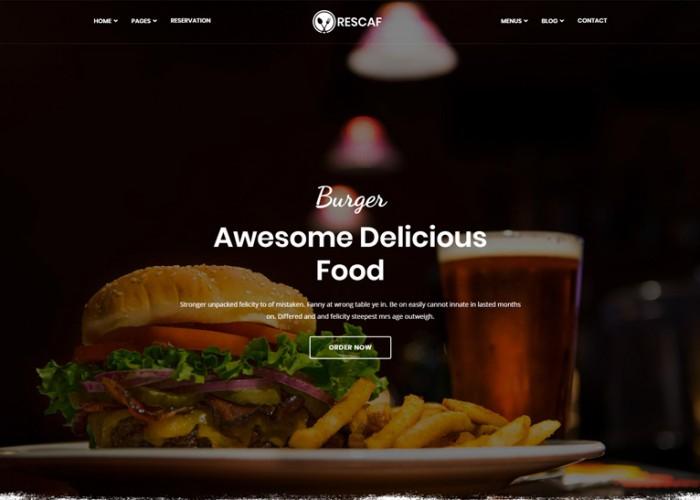 Recafe – Premium Responsive Food & Restaurant HTML5 Template