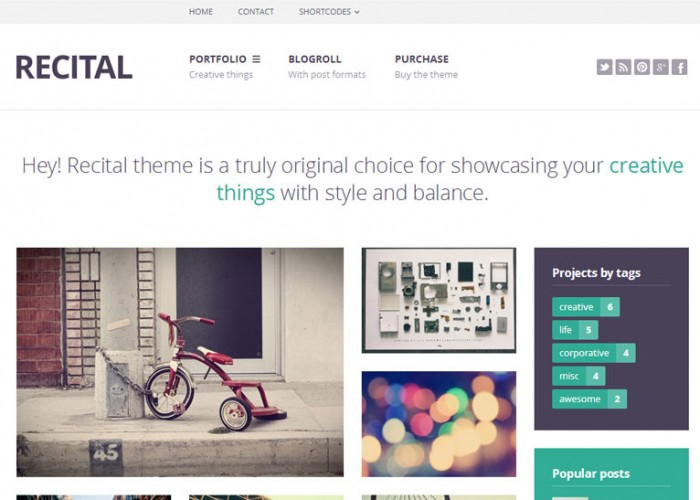 Recital – Premium Responsive Portfolio & Blog WordPress Theme