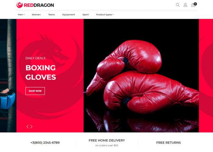 RedDragon – Premium Responsive Martial Arts Shop Magento Theme