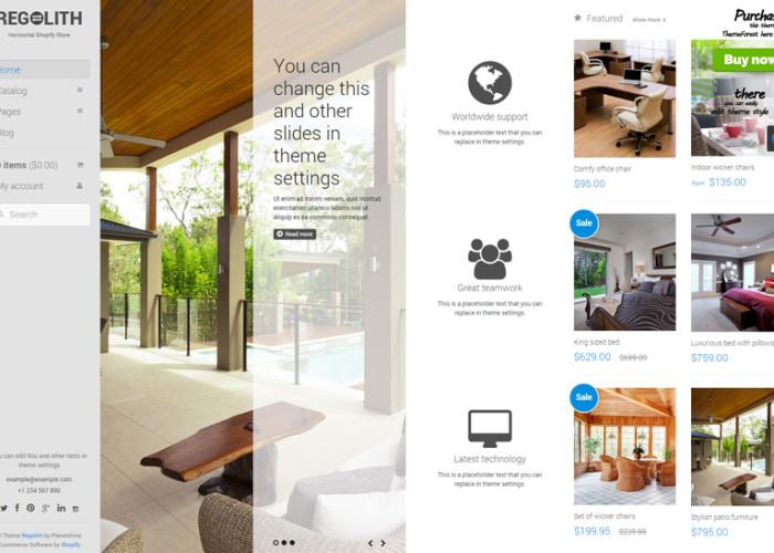 Regolith – Premium Responsive Horizontal Shopify Theme