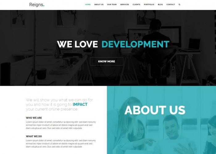 Reigns – Premium Responsive One Page Drupal 8 Theme