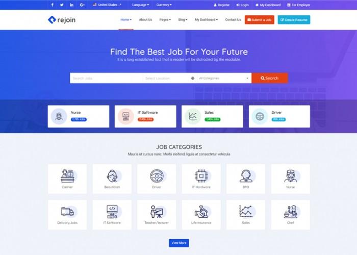 Rejoin – Premium Responsive Job board HTML5 Template