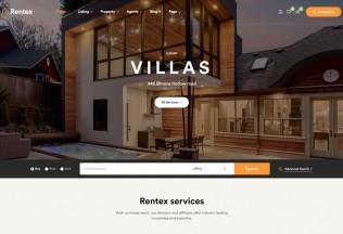 Rentex – Premium Responsive Real Estate WordPress Theme