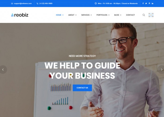 Reobiz – Premium Responsive Consulting Business WordPress Theme