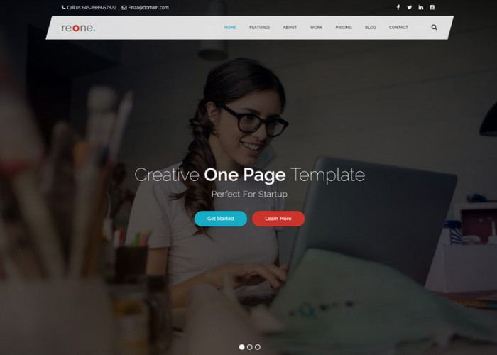 Reone – Premium Resposnive One Page Parallax HTML5 Template