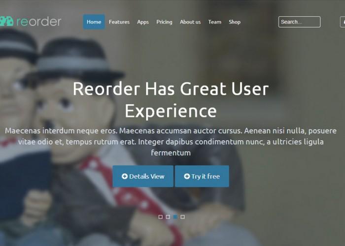 Reorder – Premium Responsive Parallax Joomla Template