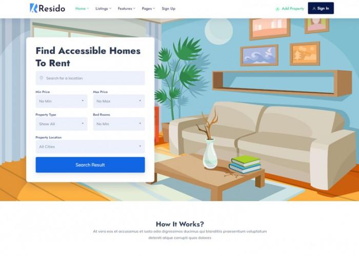 Resido – Premium Responsive Real Estate HTML5 Template