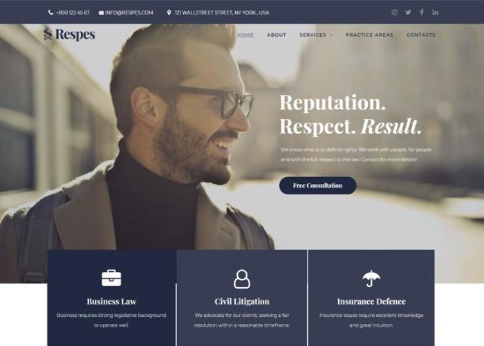 Respes – Premium Responsive Lawyer WordPress Theme