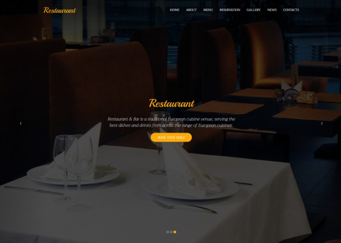 Restaurant – Premium Responsive One page HTML5 Template