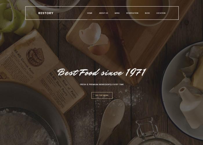 Restory – Premium Responsive Restaurant & Cafe HTML5 Template