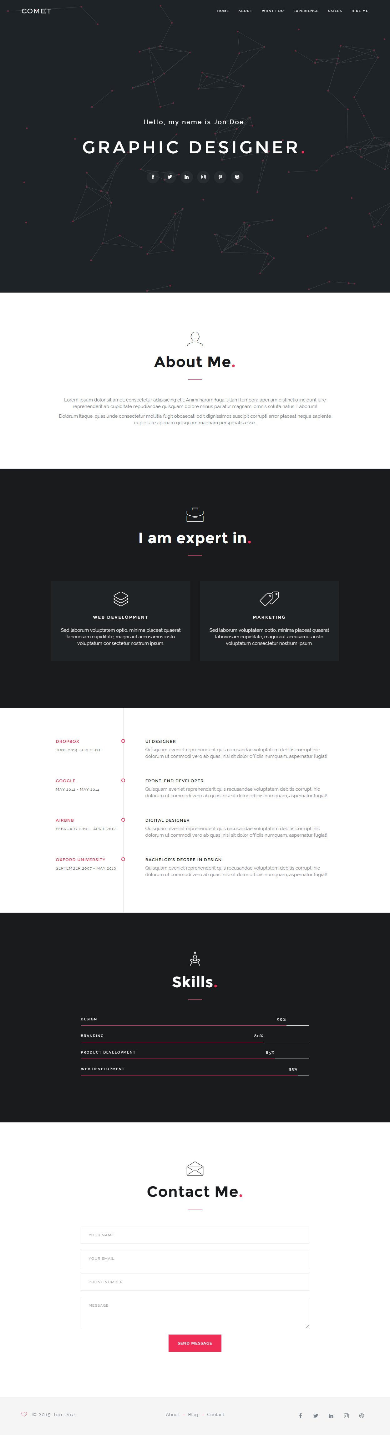 20  best resume and cv website templates 2019