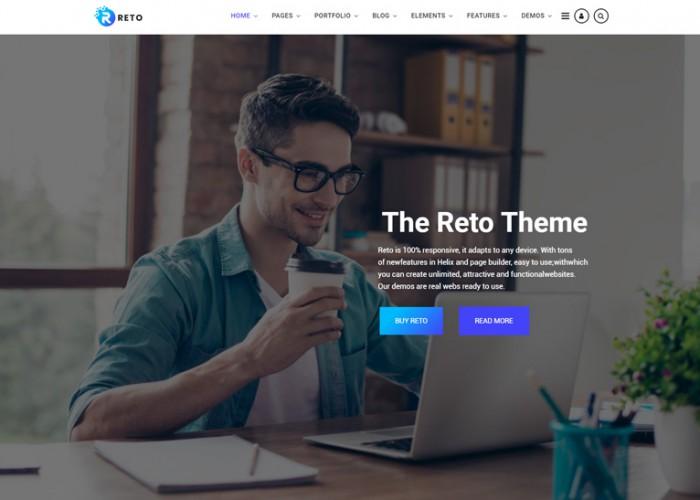 Reto – Premium Responsive Joomla Theme With Page Builder