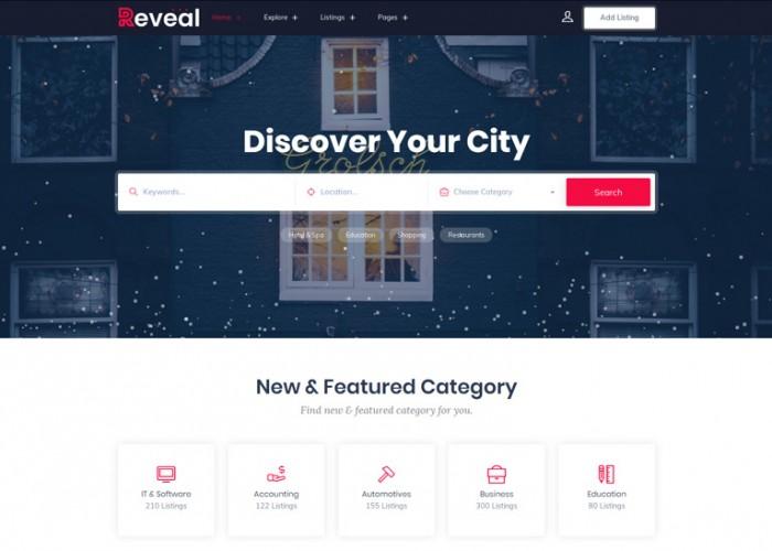Reveal – Premium Responsive Directory & Listings HTML5 Template