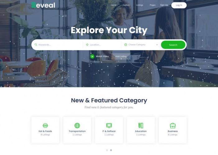 Reveal – Premium Responsive Directory & Listing WordPress Theme