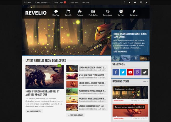 Revelio – Premium Responsive Gaming HTML5 Template