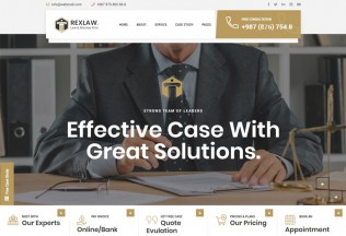 Rexlaw – Premium Responsive Law Lawyer and Attorney HTML5 Template