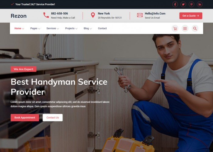 Rezon – Premium Responsive Renovation Services HTML5 Template