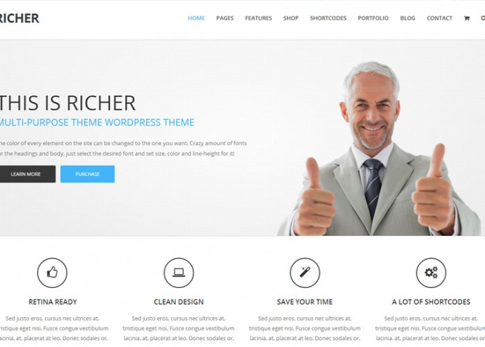 Richer – Premium Responsive Multipurpose WordPress Theme