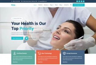 Rola – Premium Responsive Medical Dental WordPress Theme