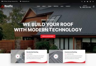 Roofix – Premium Responsive Roofing Services WordPress Theme