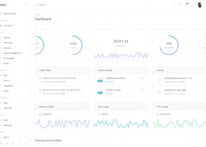 RootUI – Premium Responsive React Admin Dashboard HTML5 Template