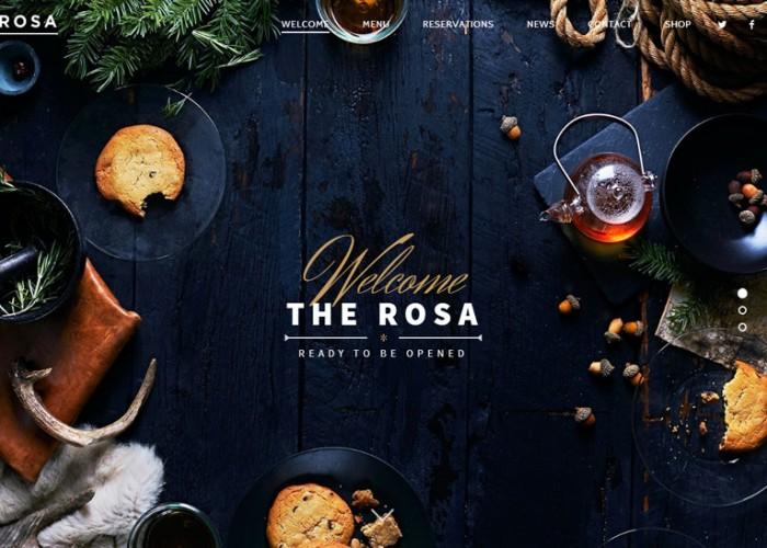 Rosa – Premium Responsive Restaurant WordPress Theme