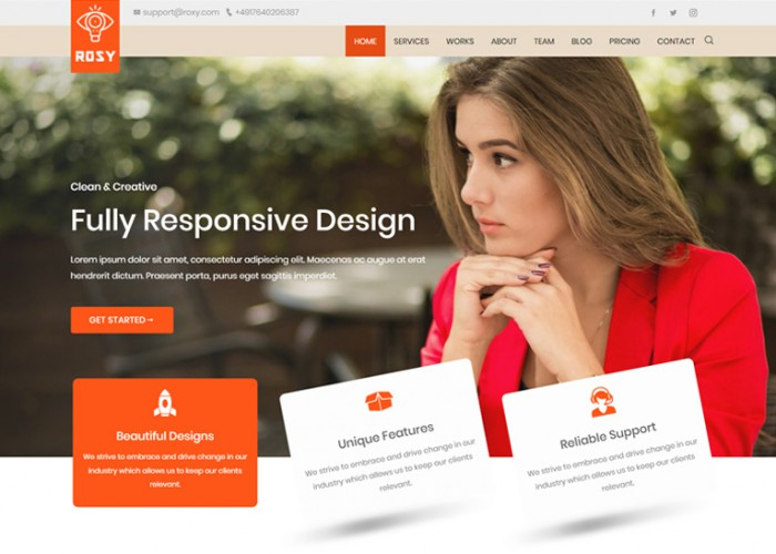 Rosy – Premium Responsive React Multipurpose HTML5 Template