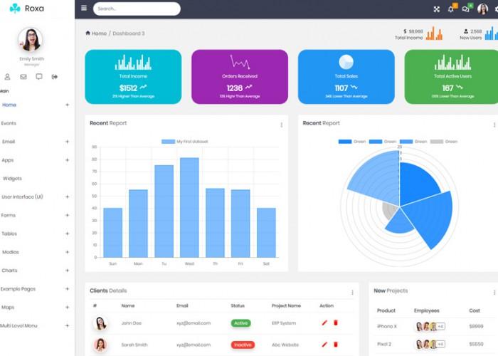 Roxa – Premium Responsive Material Design Admin HTML5 Template