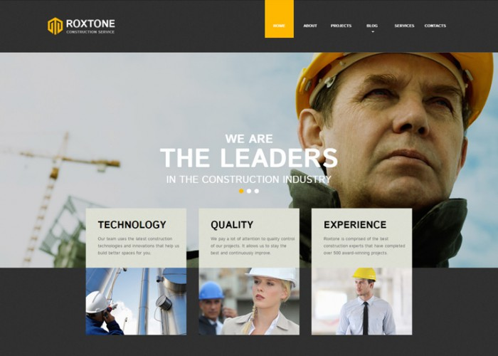 Roxtone – Premium Responsive Construction Company HTML5 Template