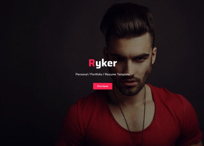 Ryker – Premium Responsive Personal Portfolio Resume HTML5 Template