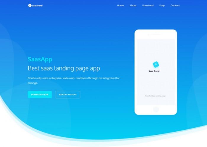 SaaSTrend – Premium Responsive Software & WebApp HTML5 Template