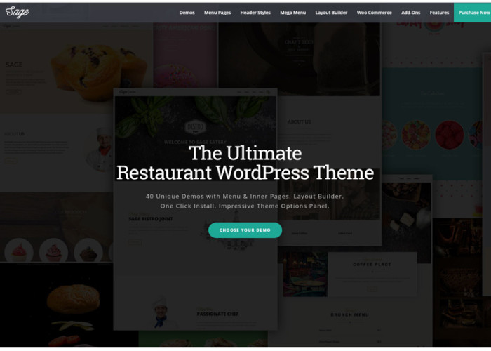 Sage – Premium Responsive Restaurant WordPress Theme