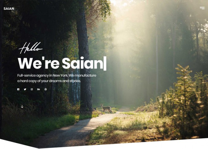 Saian – Premium Responsive Creative Portfolio Ajax HTML5 Template