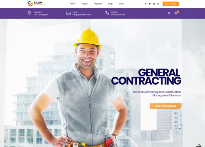 Salim – Premium Responsive Construction WordPress Theme