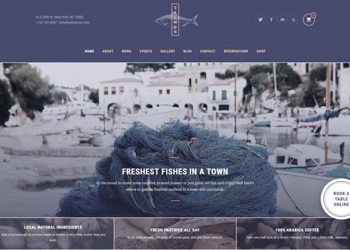 Salmon – Premium Responisve Restaurant WordPress Theme