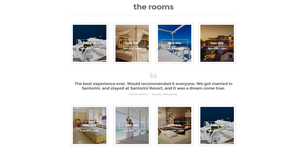 Rooms listing