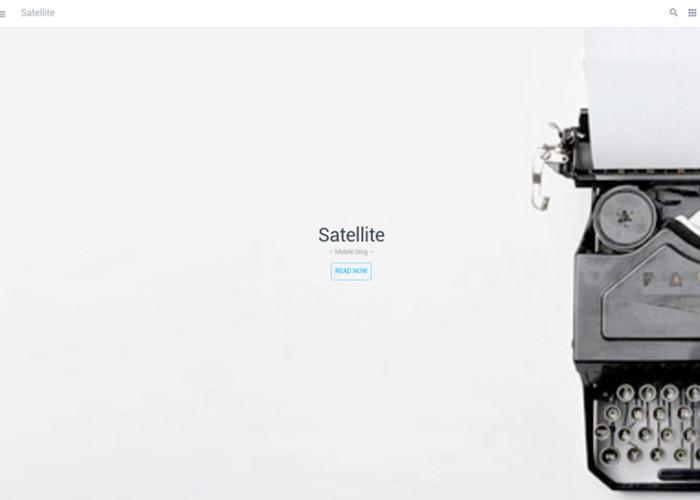 Satellite – Premium Responsive Mobile & App HTML5 Template