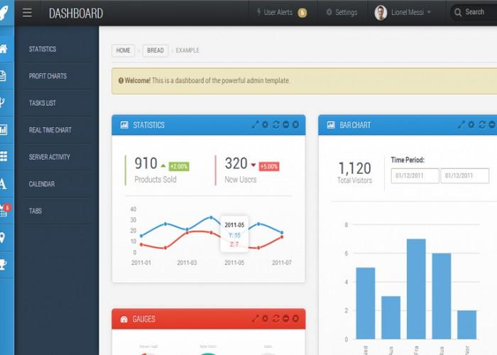 Saturn – Premium Responsive Admin Dashboard Template