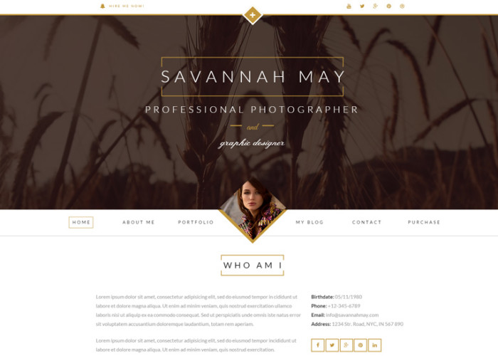 Savannah – Premium Responsive vCard Portfolio Drupal Theme