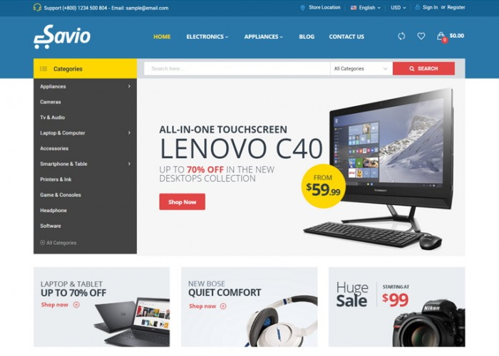 Savio – Premium Responsive Multipurpose Magento 2 Theme