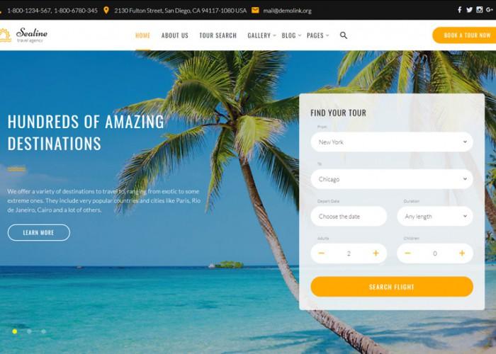 Sealine – Premium Responsive Travel Agency HTML5 Template