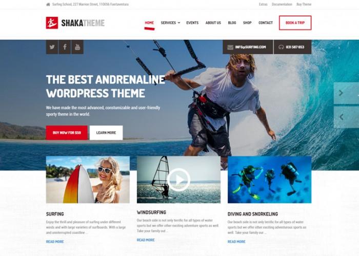 Shaka – Premium Responsive Beach Business WordPress Theme