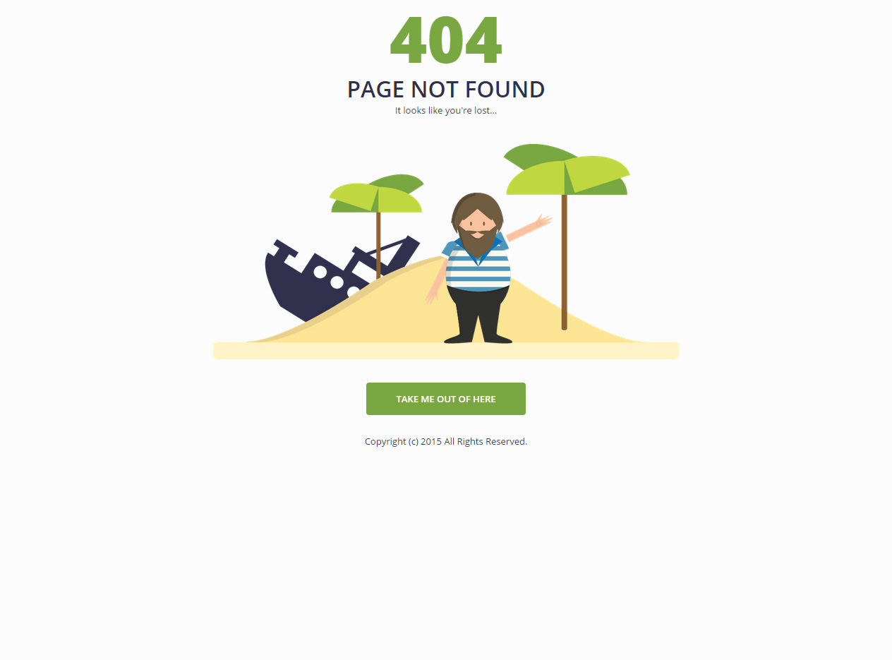 Best Responsive HTML5 404 Error Page Website Templates in 2015 ...