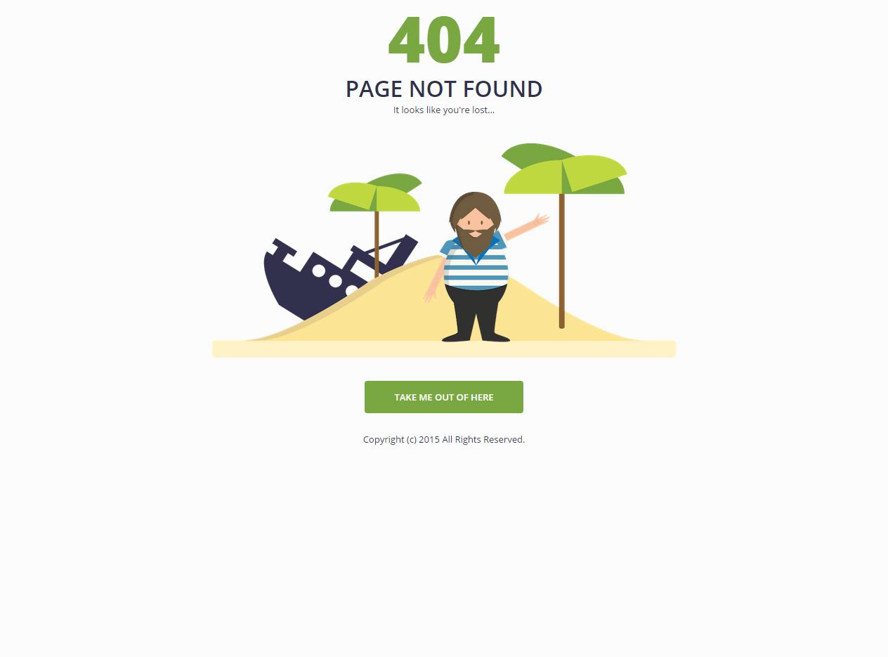 best responsive html5 404 error page website templates in 2015