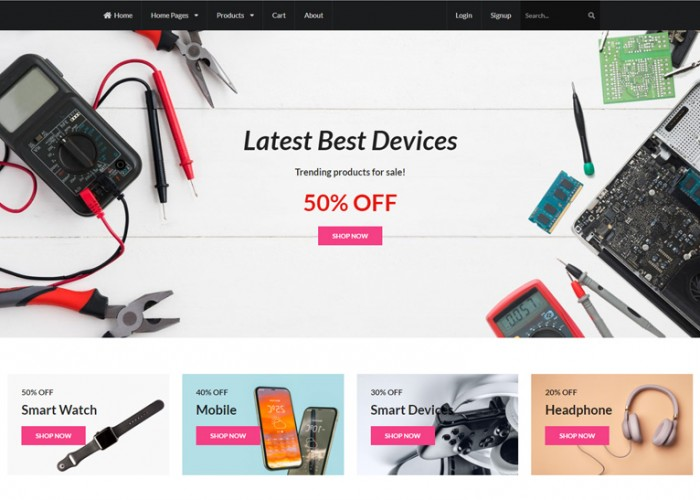 Shoponix – Premium Responsive React eCommerce HTML5 Template