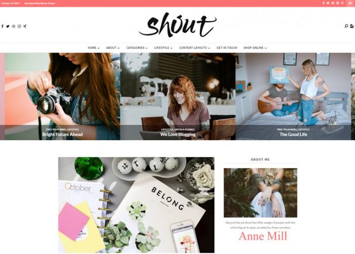 Shout – Premium Responsive Blogging WordPress Theme