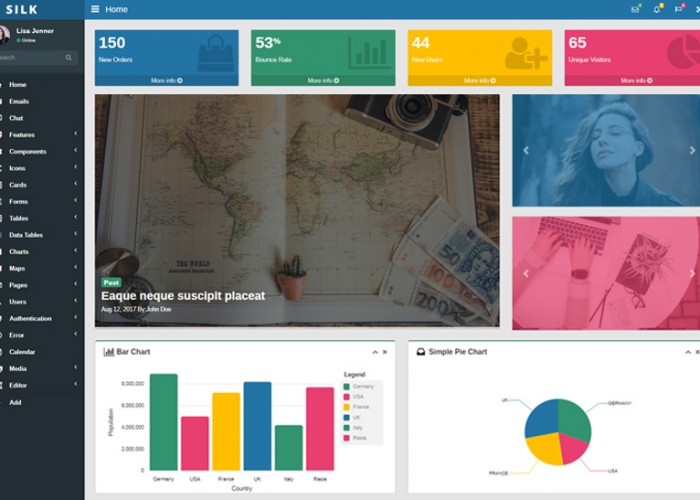 Silk – Premium Responsive Angular 8 Admin HTML5 Template with Material Design