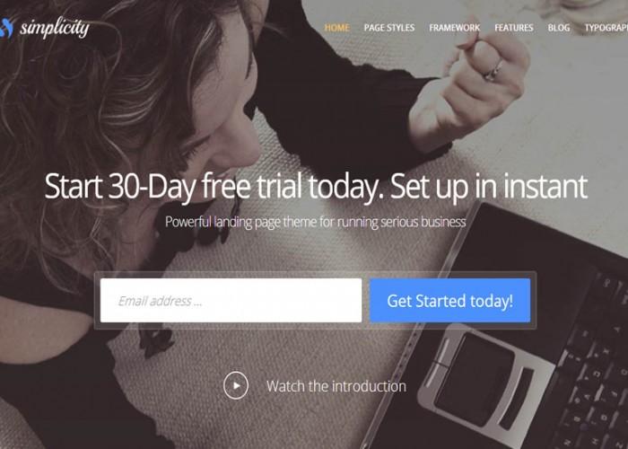 Simplicity – Premium Responsive Startup Business WordPress Theme